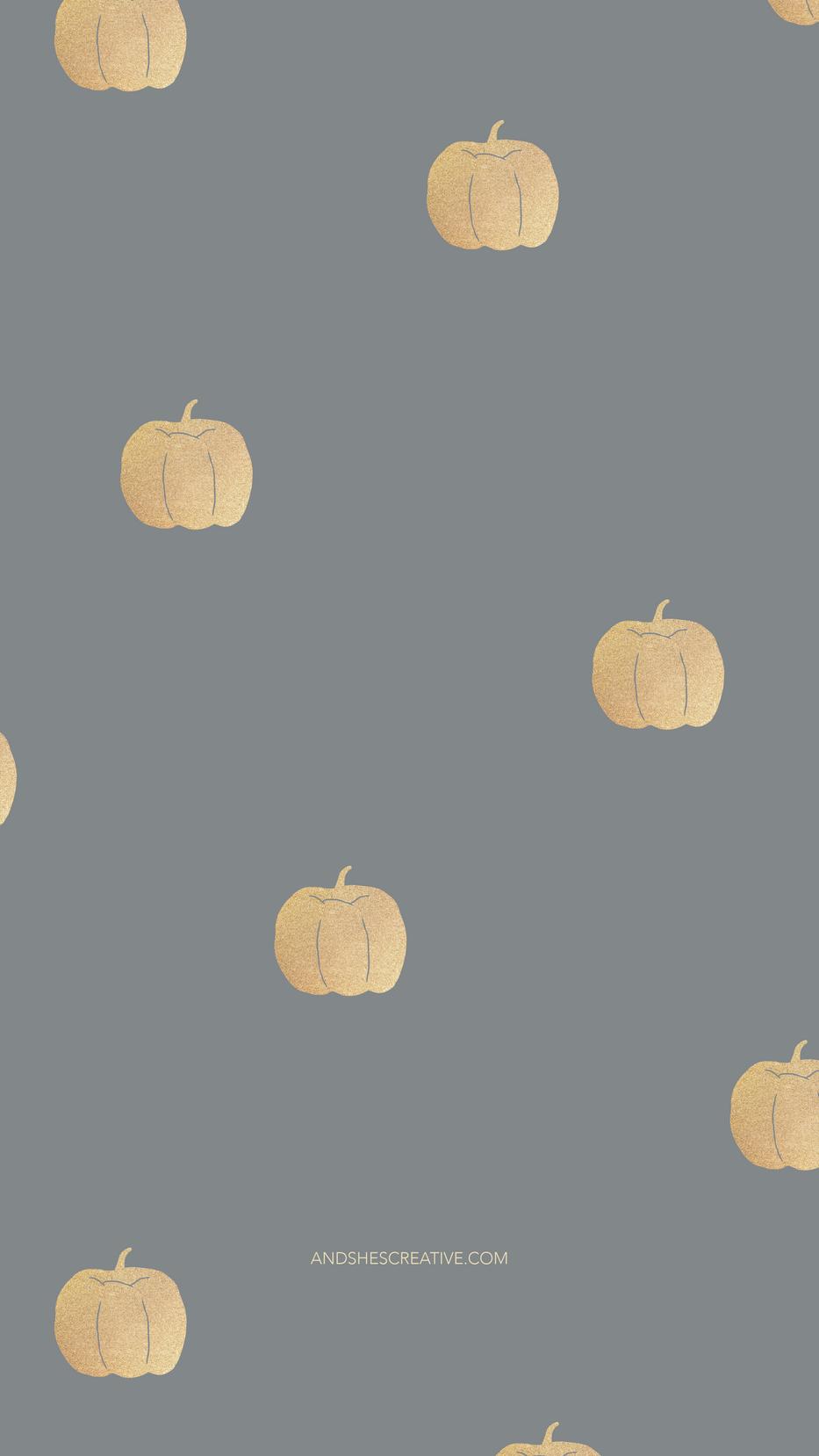 Gold Pumpkin Mobile Background