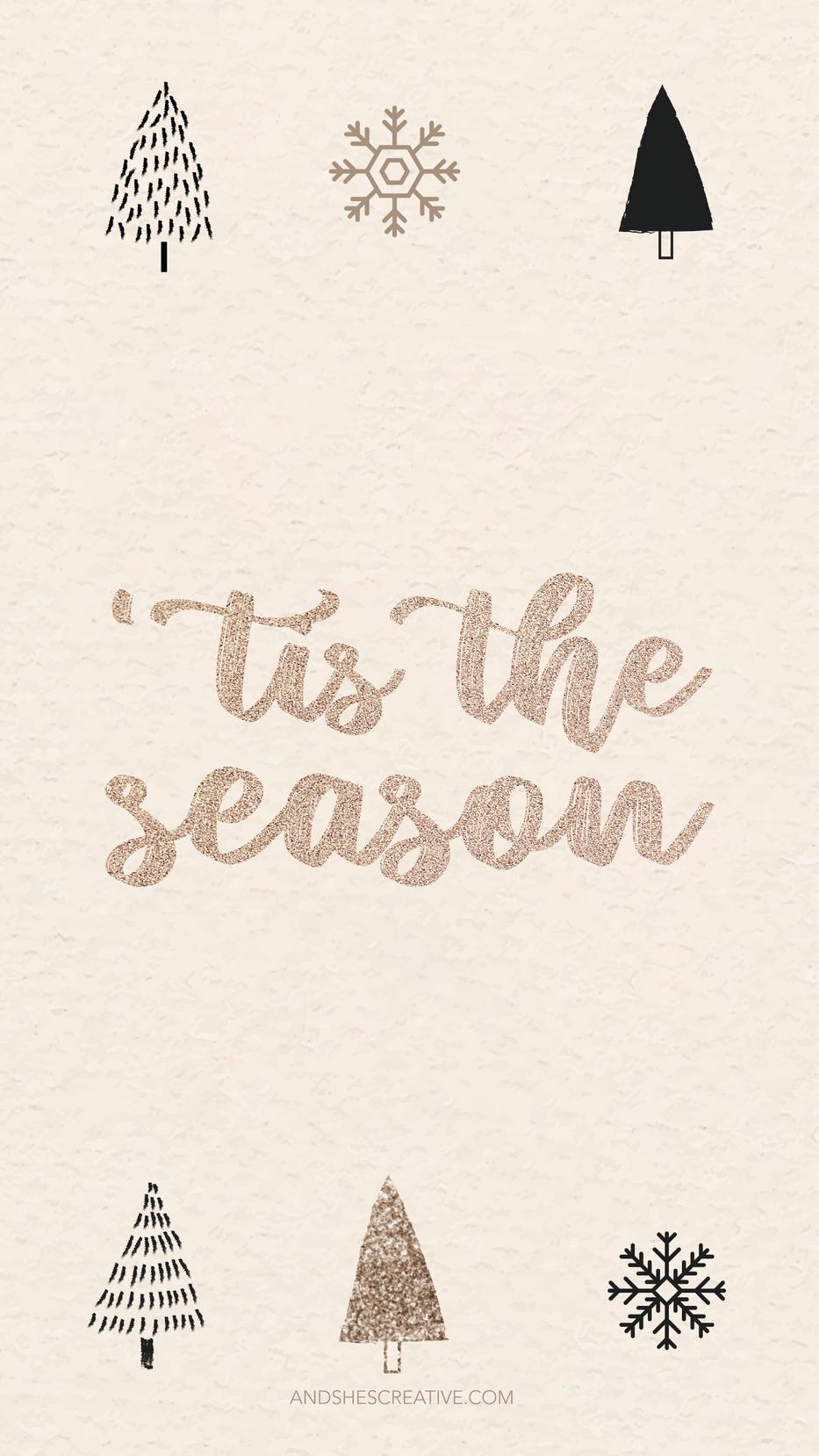 Tis the Season Mobile Background
