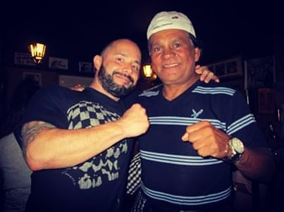 With the great Roberto Duran in #Panama.