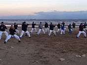 Karate Beach Training in Cleethorpes