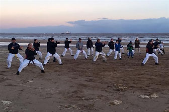Kangeiko, Karate on Cleethorpes Beach