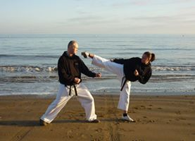 Karate on Cleethorpes Beach