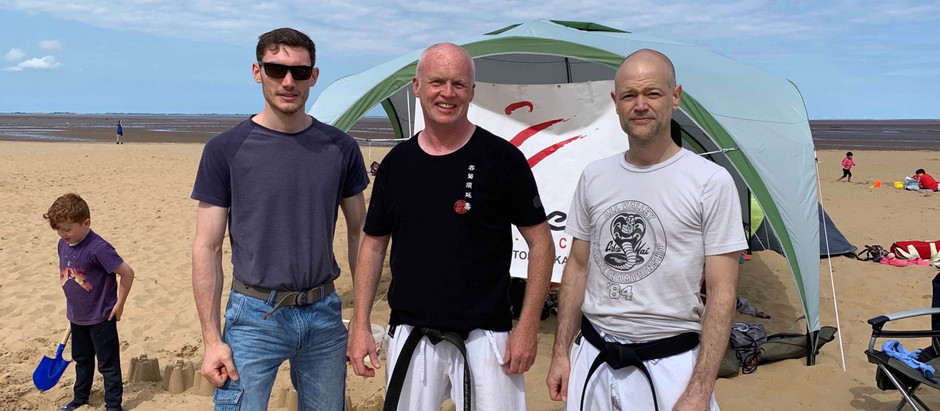 The Big Bad Bears were Back for Karate on Cleethorpes Beach Sunday 7th July 2019