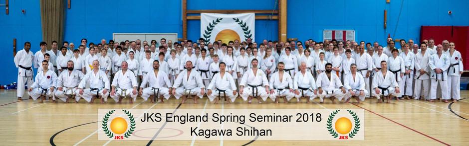 JKS Spring Seminar with Kagawa Shihan Friday 9th &  Saturday 1oth March 2018