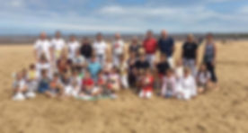 Karate Bears on Cleethorpes Beach