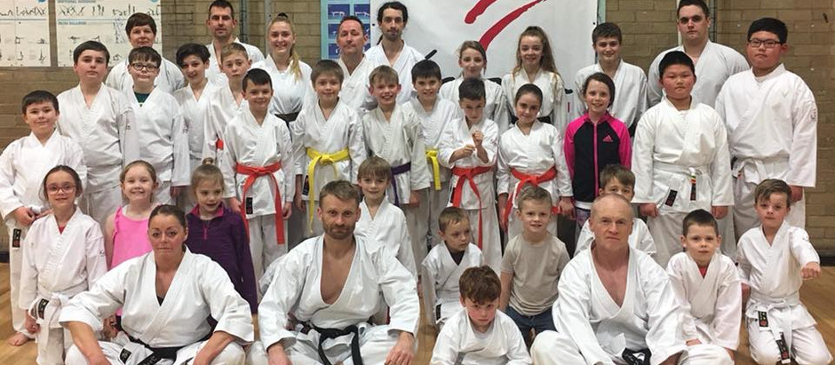 KNM Course & Kyu Grading with Sensei Steven Carless 6th Dan JKS Monday 12th March 2018