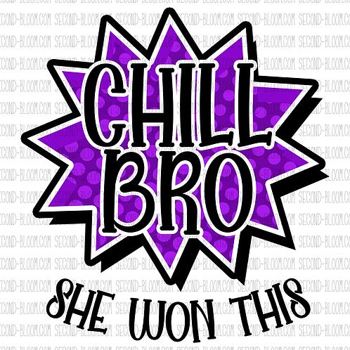 Chill Bro 1 - Purple - Sticker File