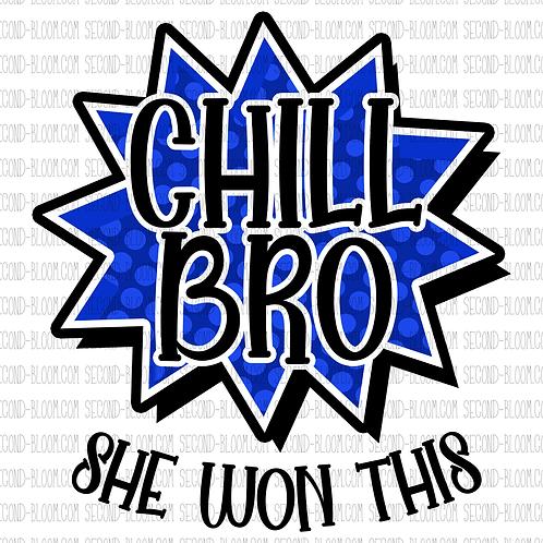 Chill Bro 1 - Blue - Sticker File