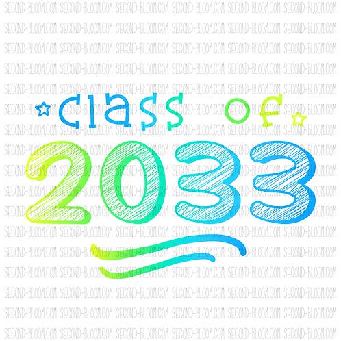 Class of 2033 - Blue/Green