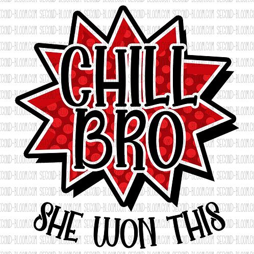 Chill Bro 1 - Red - Sticker File