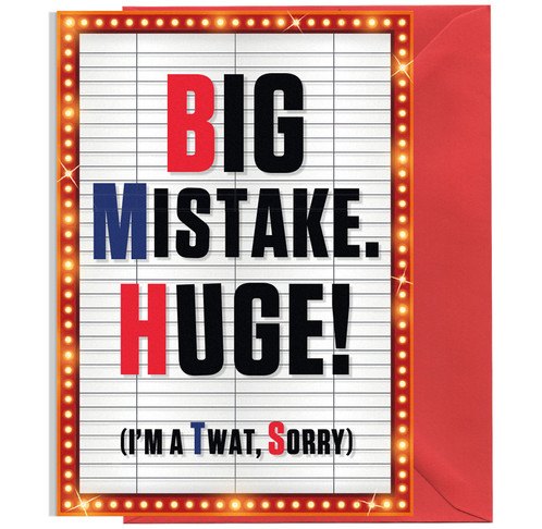 Big Mistake Huge 6394 Cardelicious – Huge Birthday Cards Uk