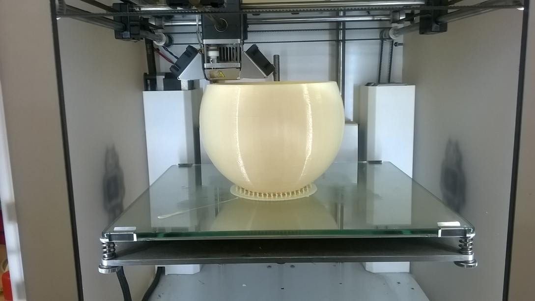 Printer testing of 3D vinyl PVC filament for Chemson Pacific
