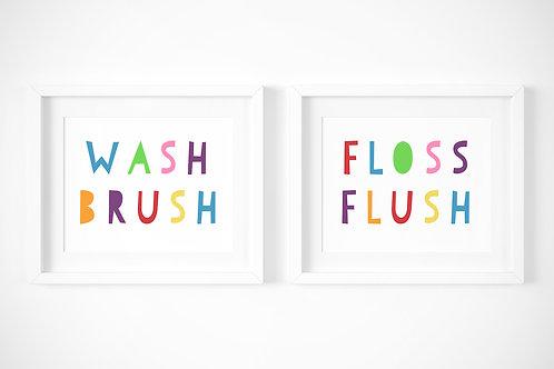 Wash, Brush / Set of 2