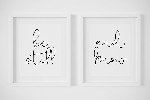 Be Still & Know / Set of 2