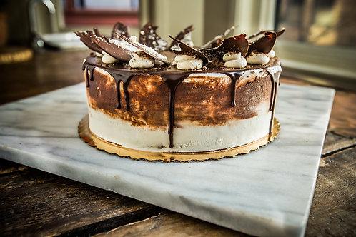 Organic Marble Cake with Vanilla Cream