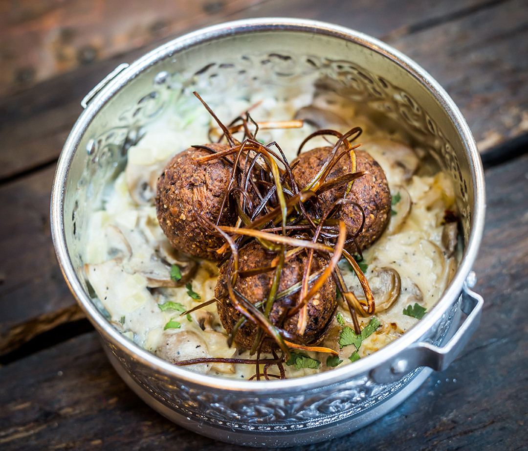 Mushroom Arancini with Bechamel Sauce