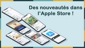 Des nouveautés dans l'Apple Store !