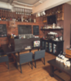 Интерьер ресторана и бар