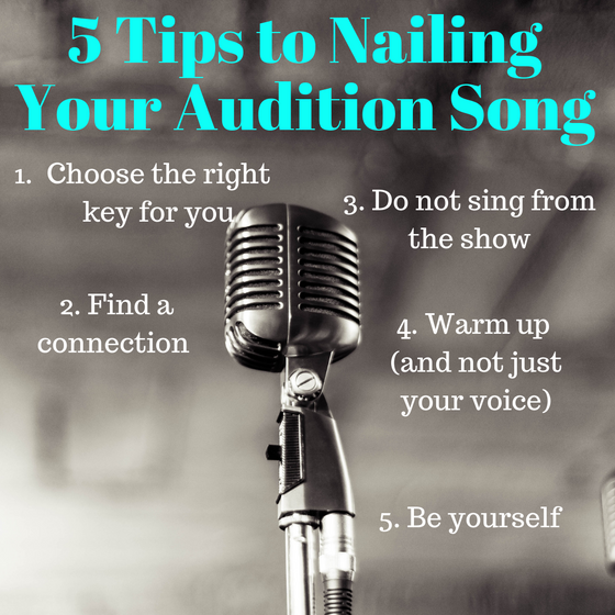 5 Tips to Nailing Your Audition Song