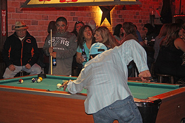 Playing Pool at Thirsty Horse Saloon