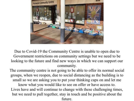 Your community centre needs you