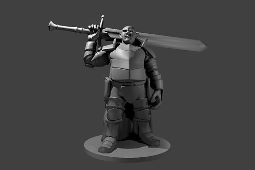 Ogre in Full Plate with Sword