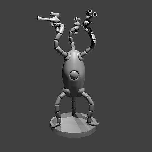 Alien Robot with Blasters