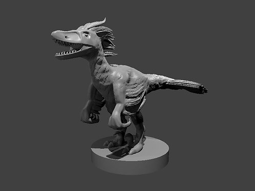 Velociraptor sculpted