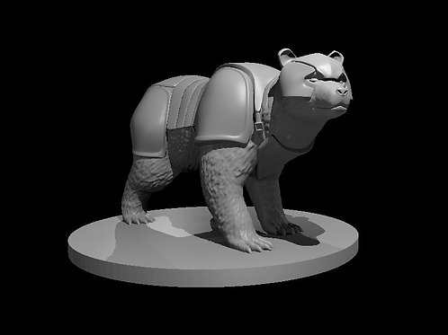 Armored Brown Bear modeled