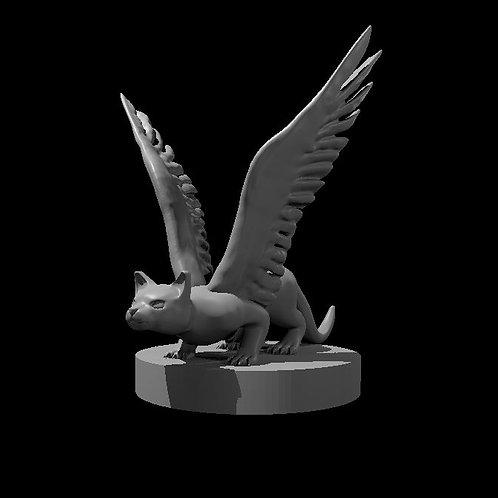 Flying Kitty 3D modeled