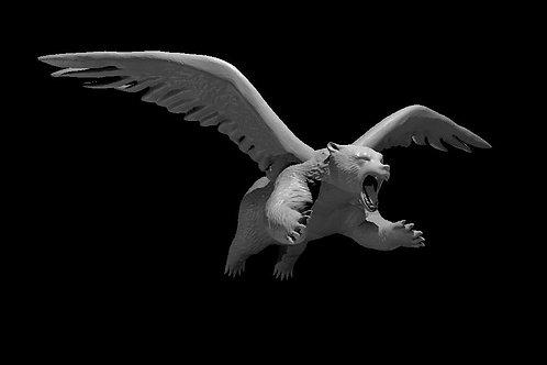 Flying Brown Bear modeled