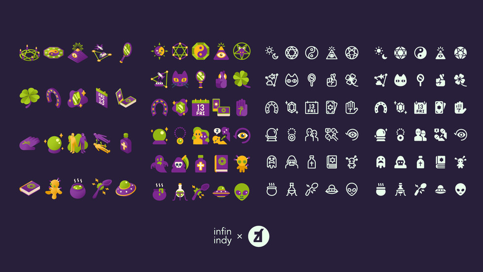 Esoteric and Superstition Icon Set