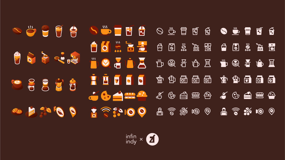 Coffee and Cafe Icon Set