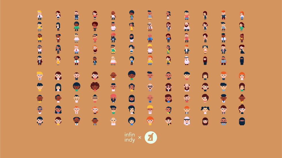 International Diversity Icon Set