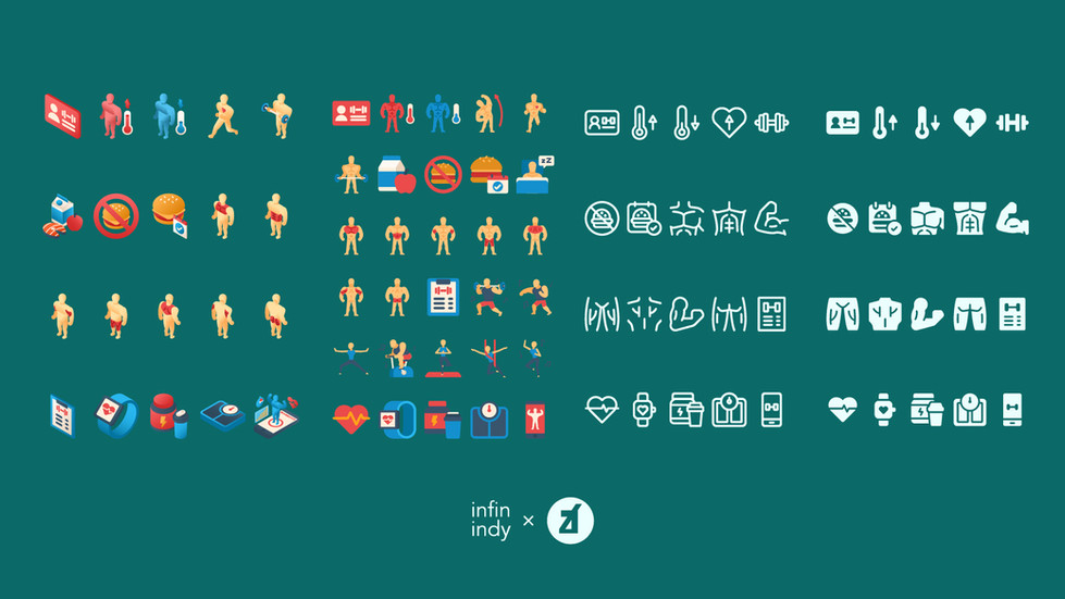 Exercise and Gym Icon Set