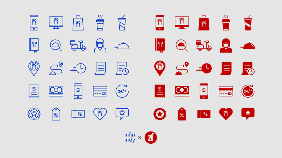 Food Delivery Icon Set