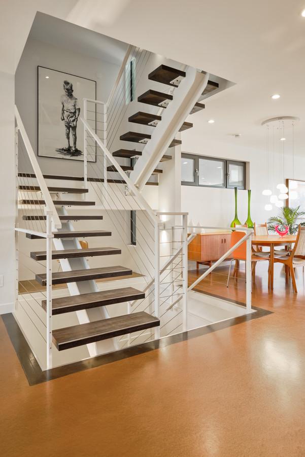 1st Floor Steel Staircase