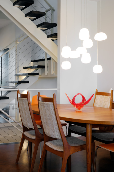1st Floor Dining Area & Steel Staircase