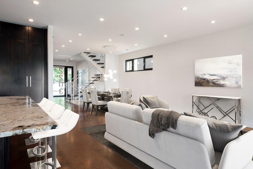 1st Floor Dining & Living Area (Digital Staging)
