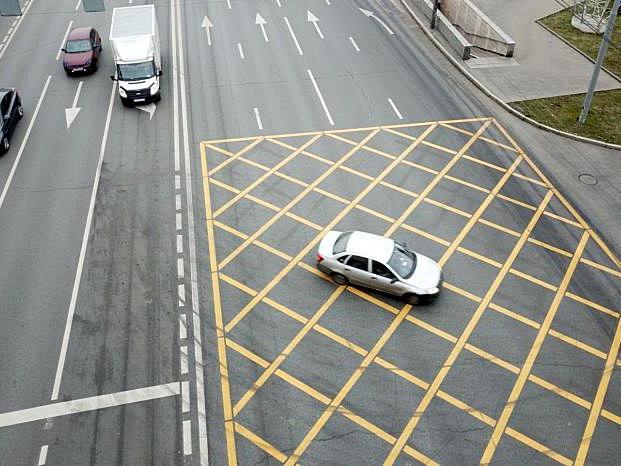Вафельная разметка на дорогах