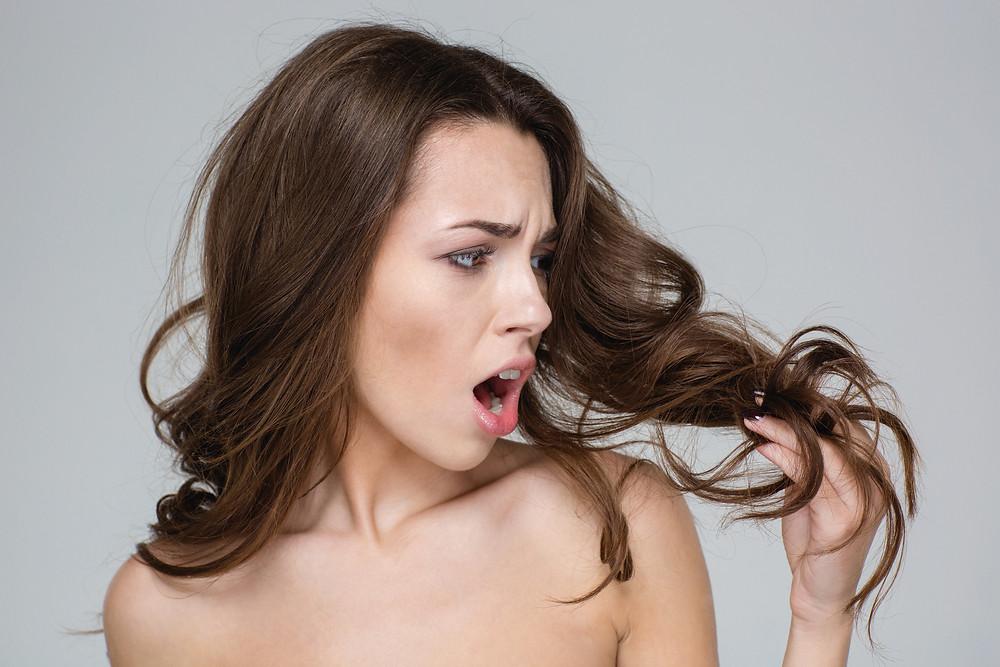Keratina para el cuidado del cabello