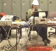 Response Dynamics vibration testing engineers onsite at a customer location