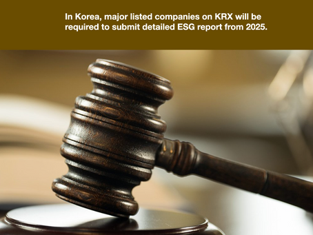 Most Korean companies are not ready for the mandatory ESG disclosures