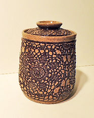 BROWN TEXTURED POT WITH LID.JPG