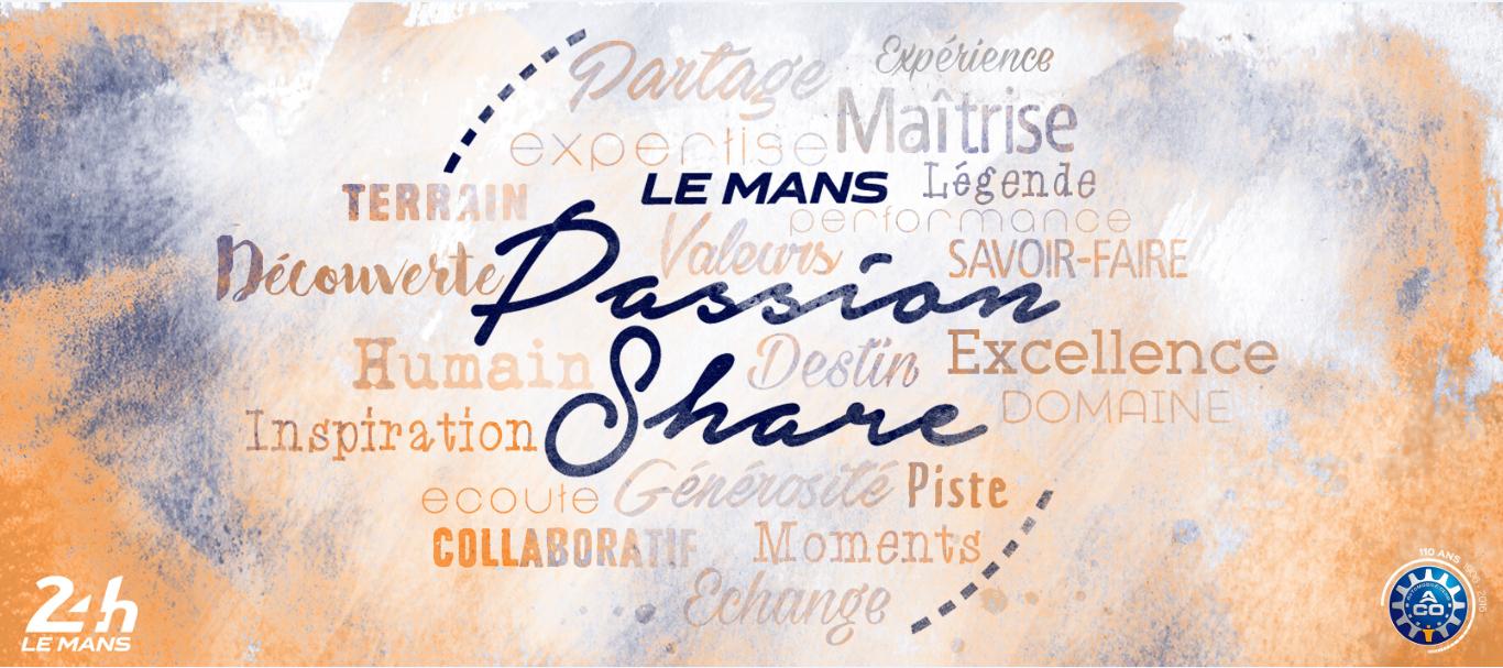 Création Une Idée pour le concept Le Mans Passion Share
