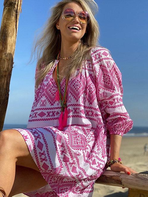 Place du Soleil | Aztek Kleid pink