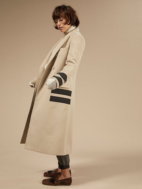 10 DAYS Wool Coat Two Stripes