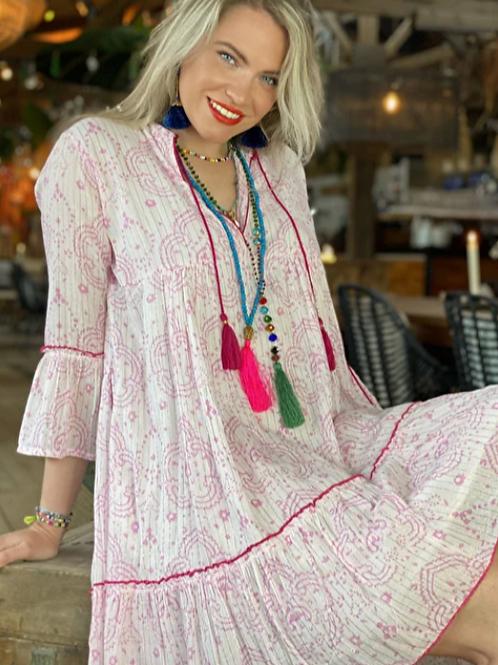 Place du Soleil  Kleid Pink Lurex
