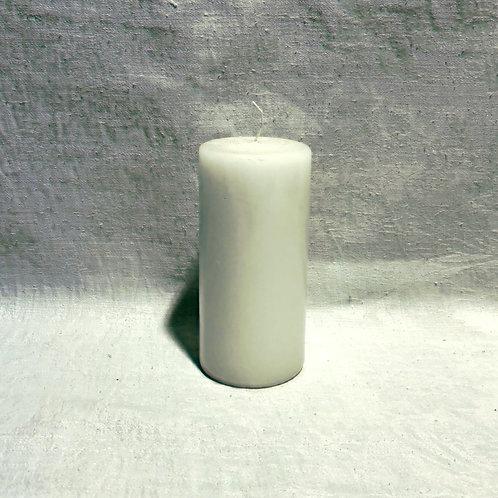 Stumpenkerze, weiß, 7cm x15cm