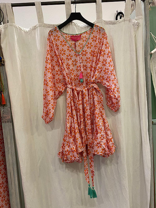 Place du Soleil | Kleid knie lang peach
